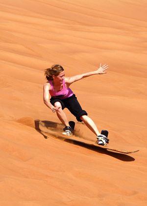 Dubai zandduinen skiën